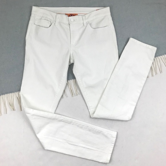 Tory Burch Denim - Tory Burch | White Jeans Skinny Logo Pocket 31